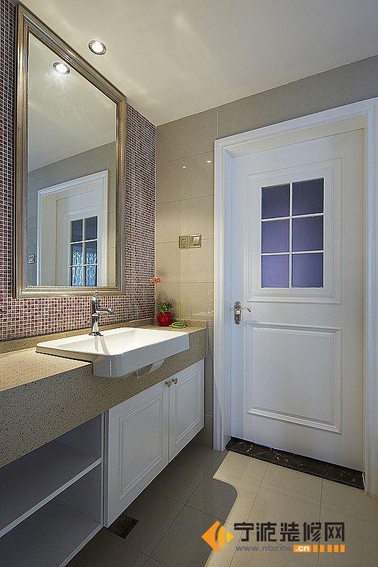 洗手台装修图片图片 大理石洗手台效果图,台面大理石砖砌洗手