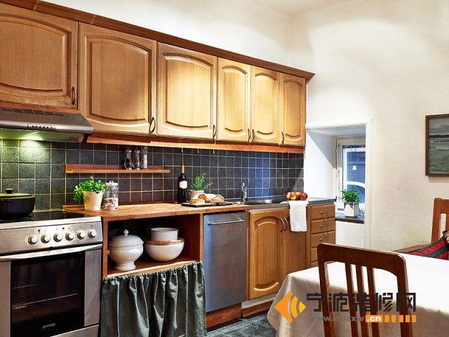 70平米欧式复古风公寓 厨房装修效果图
