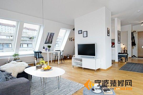 瑞典北欧风格公寓 客厅装修图片