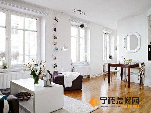 40平米精致北欧单身公寓 客厅装修图片高清图片