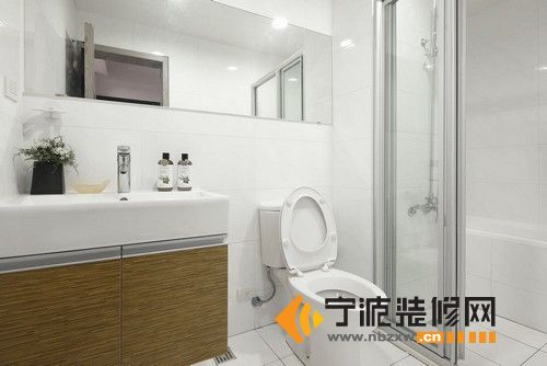 50平米小日式 卫生间装修效果图