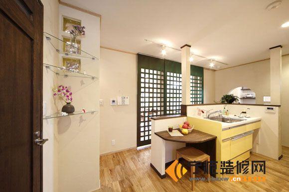 10万打造80平米日式豪宅 厨房装修图片