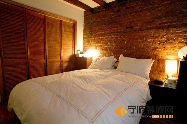 90平美式风格雅致两居室 卧室装修图片