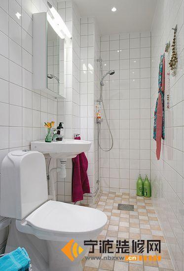 简约的浓情蜜意56平小户型公寓 卫生间装修效果图