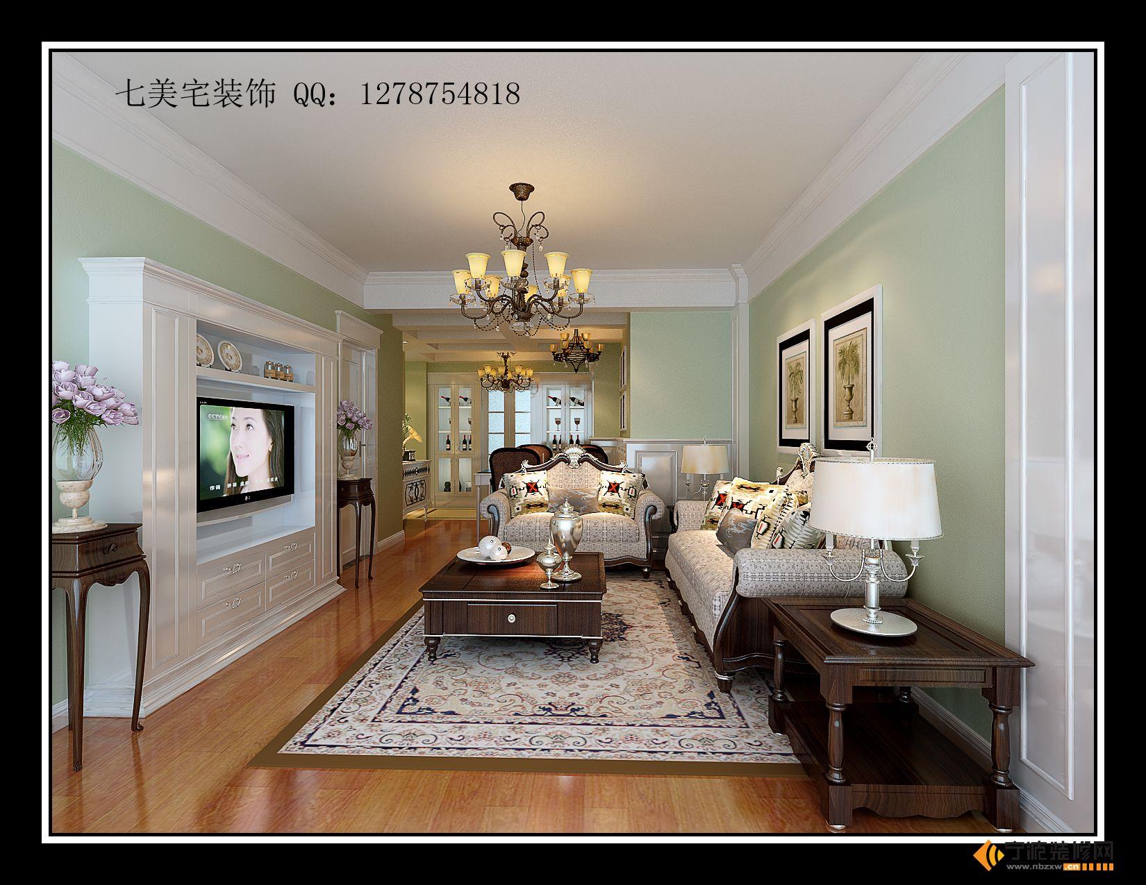 欧式客厅装修图片图片
