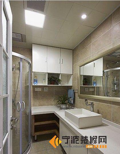 简约风格 三室一厅一卫 卫生间装修图片