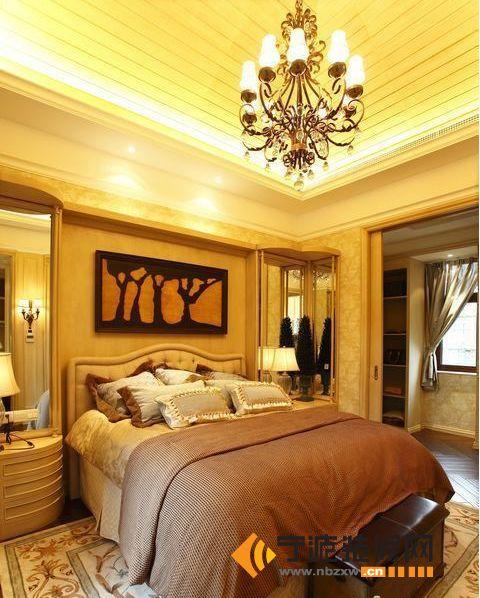 欧式风格 别墅花园 卧室装修图片