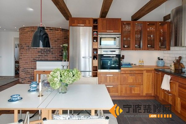 装修图片   > 82平超浪漫公寓 【单张】   厨房装修效果图