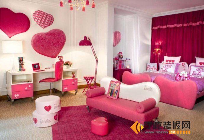 现代女孩房间设计案例 儿童房装修效果图