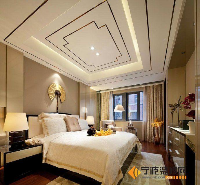 205平现代欧式低调奢华别墅 卧室装修图片