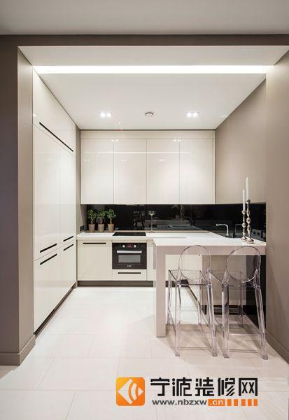 啡色明亮家居 厨房装修效果图