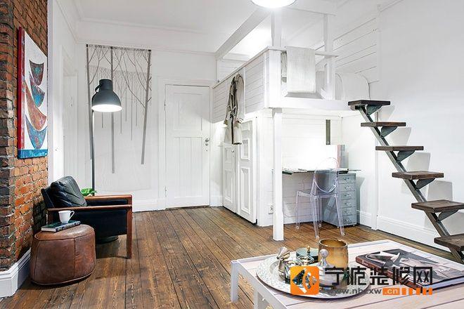 50平米陽光公寓-客廳裝修效果圖-寧波裝修網裝修效果