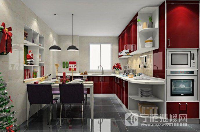93平现代简约两居 厨房装修效果图 -93平现代简约两居 厨房装修图片高清图片