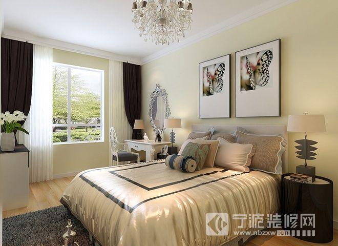93平现代简约两居 卧室装修效果图 -93平现代简约两居 卧室装修图片高清图片