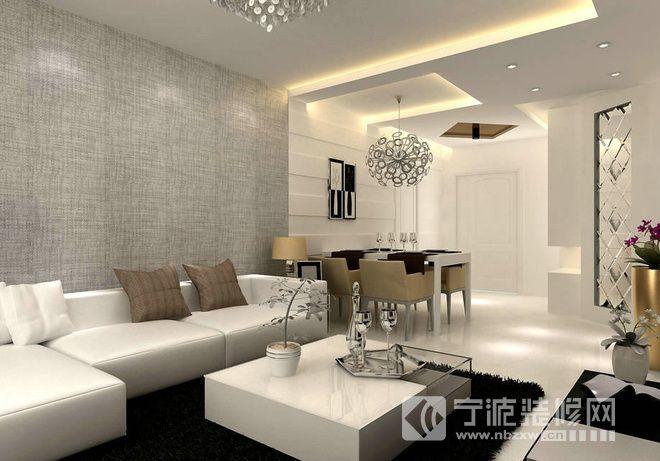 12.8万打造90平米两居室 客厅装修图片