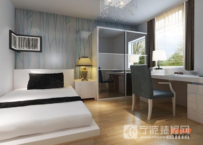 108平米简约风格4居 卧室装修图片