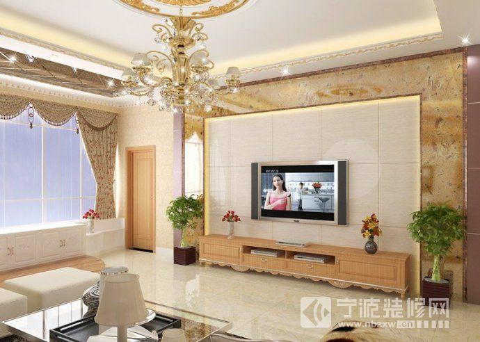 创意客厅电视背景墙设计-客厅装修效果图-宁波装修网