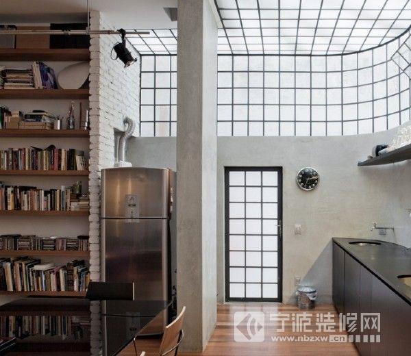开放式公寓设计 过道装修图片