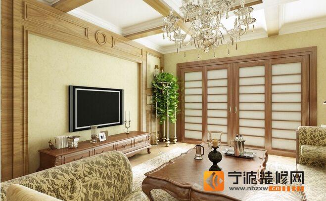 7.3万装95平米浪漫之家 客厅装修图片