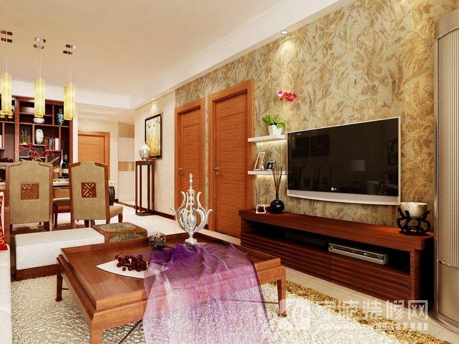 95平东南亚风格精品居 客厅装修图片