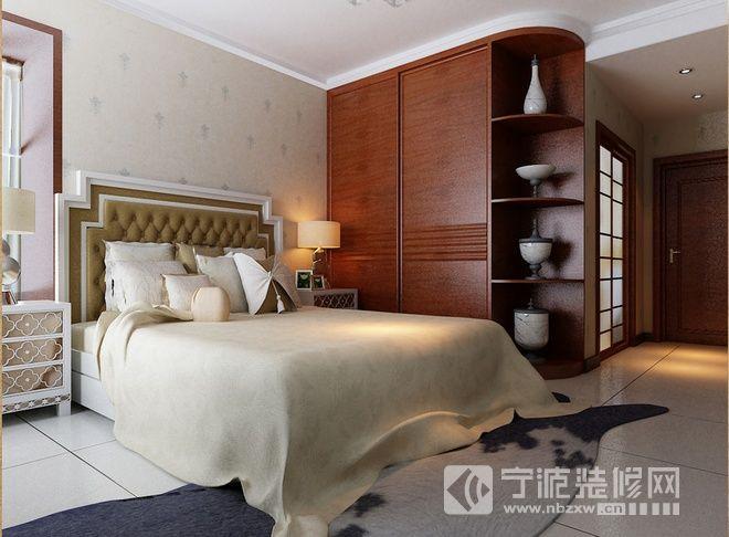 28平简约中式时尚雅居 卧室装修效果图 -128平简约中式时尚雅居 卧