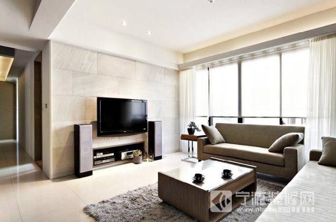 2014最流行瓷砖背景墙装修案例-客厅装修效果图-宁波