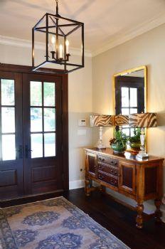 玄关鞋柜设计案例现代玄关装修图片 客厅装修如何正确选择