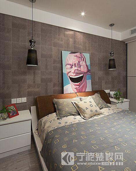100平现代简约三室两厅 卧室装修效果图