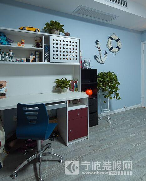 100平现代简约三室两厅 书房装修效果图