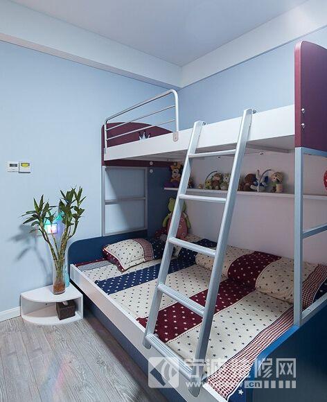 100平现代简约三室两厅 儿童房装修效果图