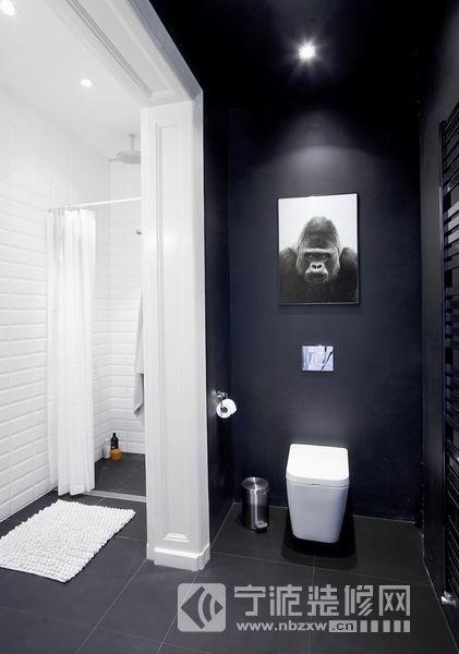 62平方米简约住宅 卫生间装修图片