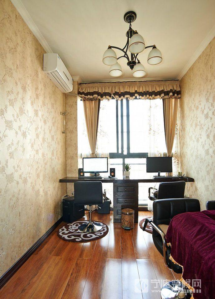 124平美式温馨雅居 书房装修效果图