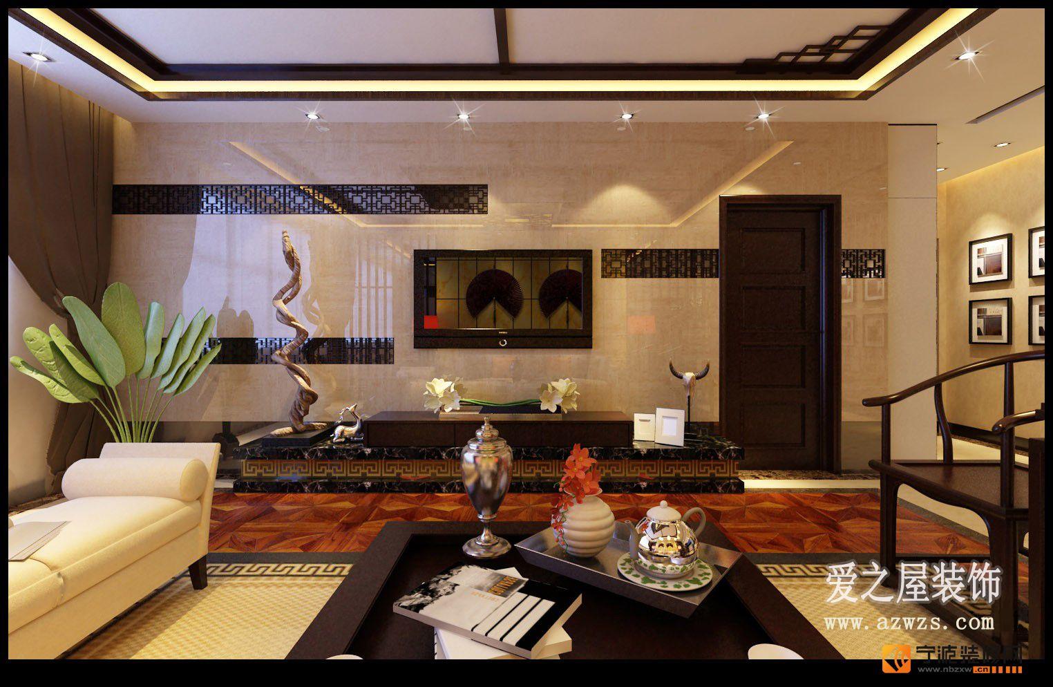 102平米温馨现代设计 客厅装修图片