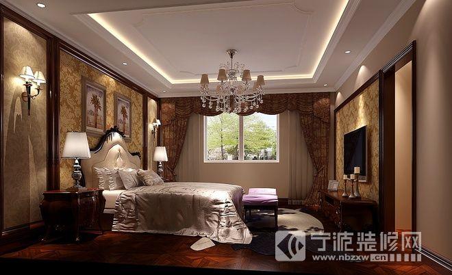 平歐式美式奢華別墅 臥室裝修效果圖