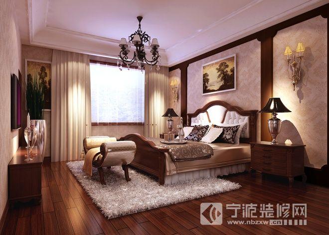 243平欧式美式奢华别墅 卧室装修图片