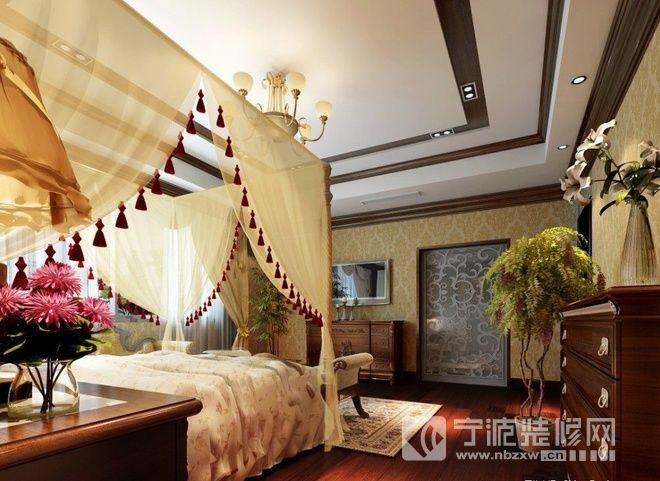 165平地中海复式婚房 卧室装修效果图
