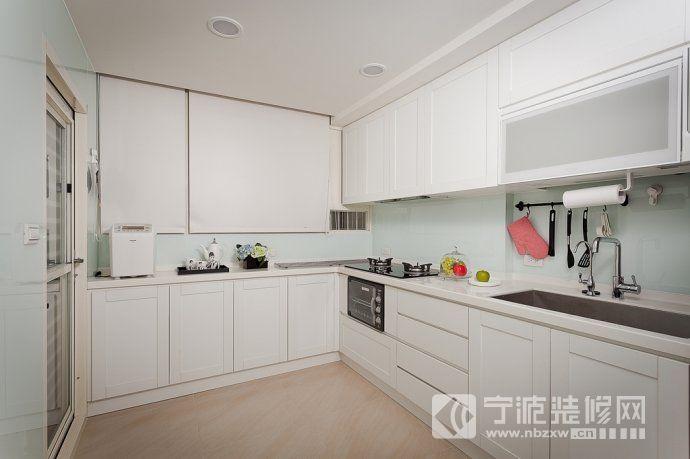 103平美式乡村清新美家 厨房装修图片