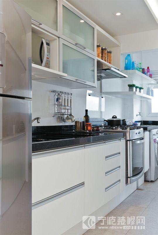 装修图片   > 70平米清新一居室 【单张】   厨房装修效果