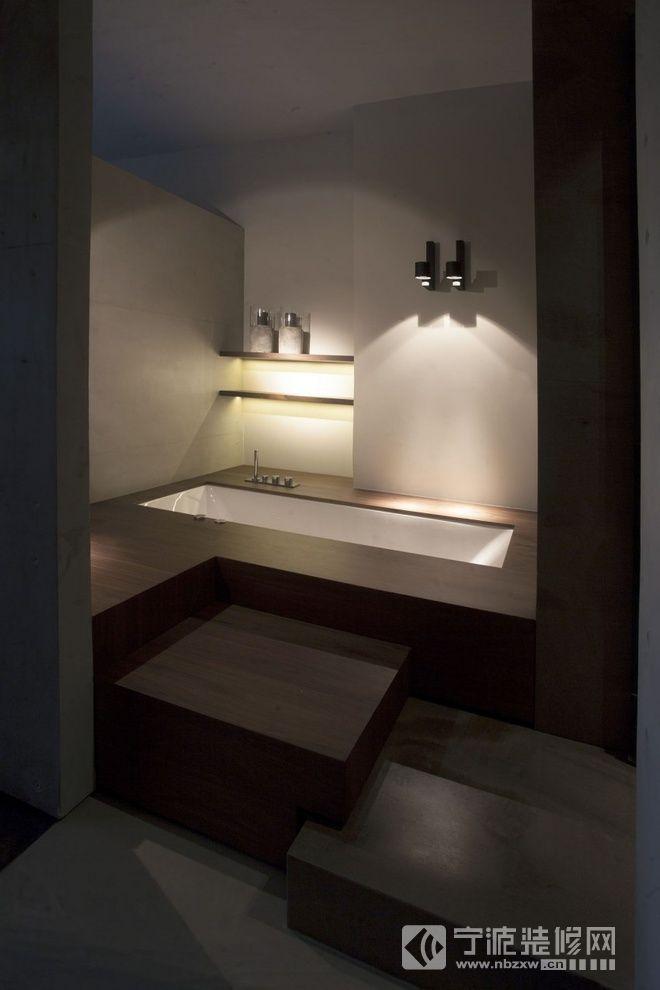 简单舒适的时尚住宅 卫生间装修图片
