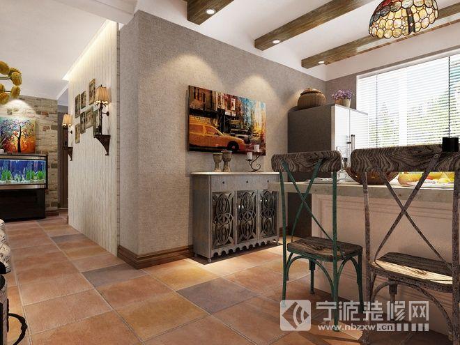 乡村复古三居室 餐厅装修效果图 -乡村复古三居室 餐厅装修图片