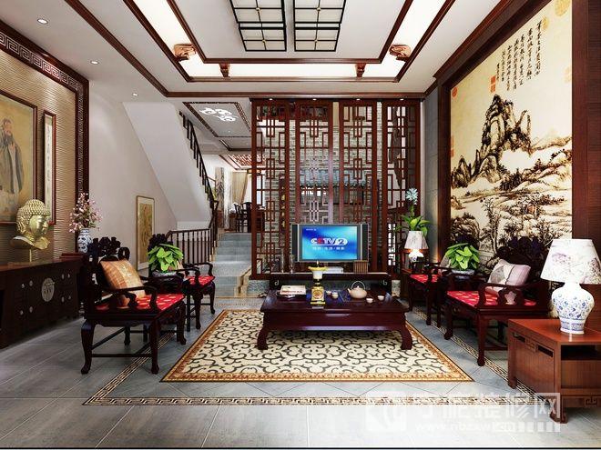 极富情调的中式家居 客厅装修图片