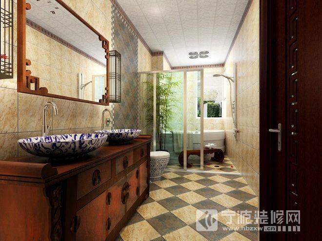极富情调的中式家居 过道装修图片