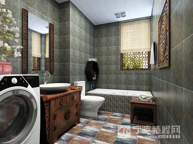 极富情调的中式家居 卫生间装修图片