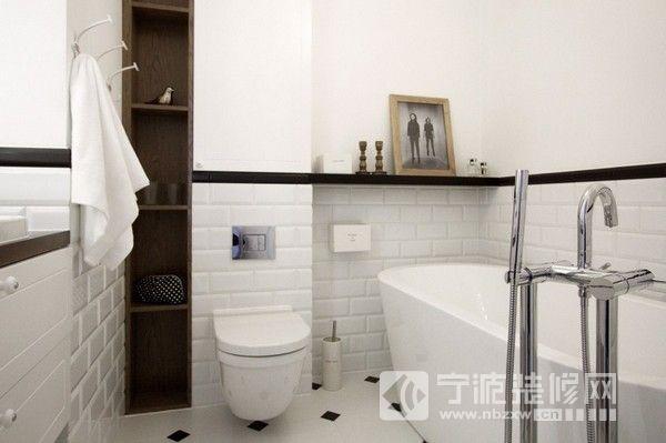 黑白灰主色调家居-卫生间装修效果图-宁波装修网装修