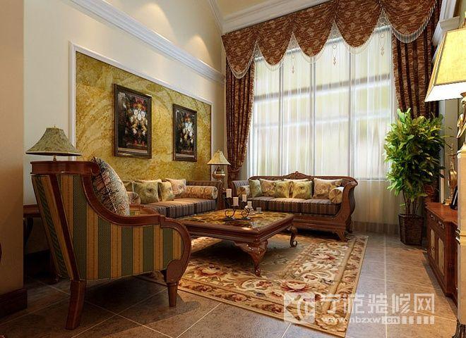 170平米简中式三居 客厅装修图片