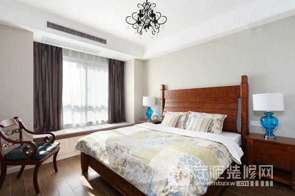 140平美式风三居 卧室装修效果图 -140平美式风三居 卧室装修图片
