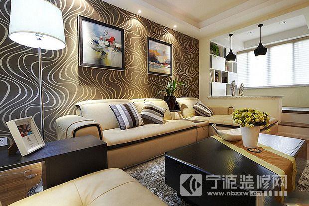 小米公寓-客厅装修效果图-宁波装修网装修效果图库
