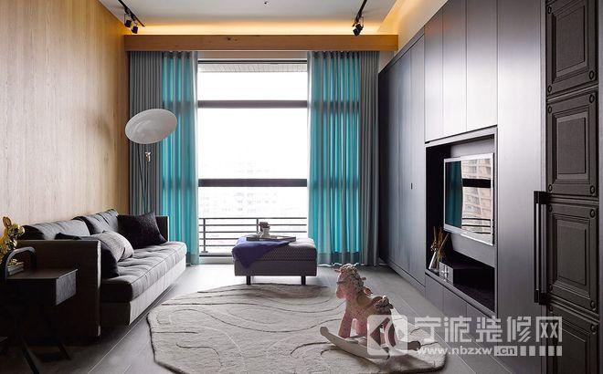 95平米现代简约风格装修效果图 客厅装修图片