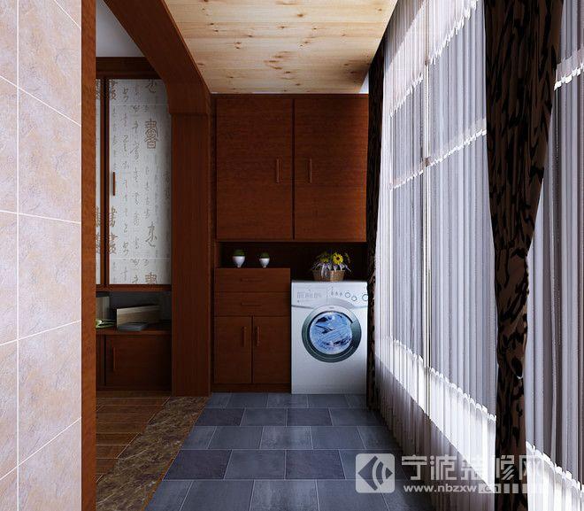 新中式大户型装修设计图 阳台装修效果图