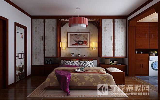 新中式大户型装修设计图 卧室装修效果图